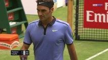 Halle : Quand Federer s'amuse avec Sugita