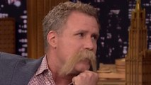 Will Ferrell Tries To Out Mustache Fallon