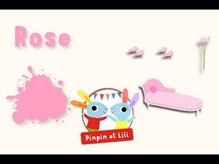 Apprendre les couleurs avec Pinpin et Lili - le rose