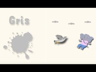 Apprendre les couleurs avec Pinpin et Lili - Le gris