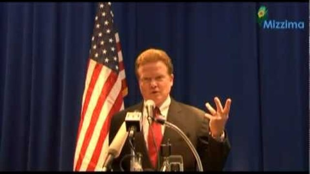 US Senator Jim Webb holds press conference