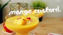 আমের কাস্টার্ড   ঈদের রেসিপি   Mango Custard Recipe Bangla   Bangladeshi Fruit Custard Recipe