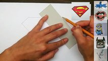 How to draw the Superman Logo - Easy step-by-step drawing tutorial