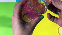 Rainbow slime  Rainbow in a bottle _ tht