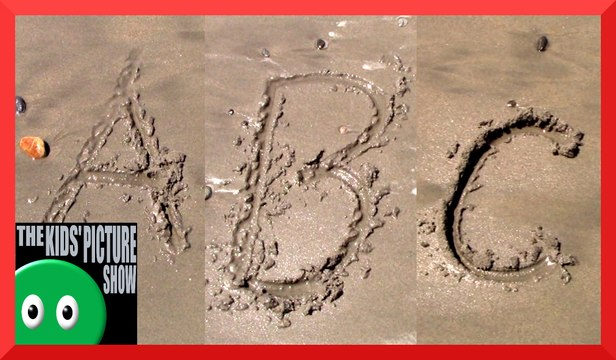 Sand Alphabet - Beach ABC's - The Kids' Picture Show (Fun & Educational Learning Video)