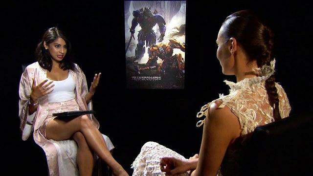 Laura Haddock talks Transformers 5