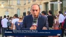 """Démission de François Bayrou: """"Nous n'avons jamais eu d'emplois fictifs"""" au MoDem (Bayrou)"""