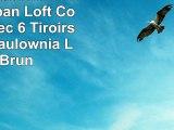 Premier Housewares 2403975 Urban Loft Commode avec 6 Tiroirs Bois de Paulownia Lavis Brun