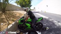 Hot Girl rider throws hands on me| Riding with girl riders| SnewJ