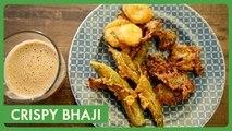 Crispy Bhaji Recipe in Telugu | బజ్జి | Tasty Snacks | పకోడీ | Quick Snacks | Telugu Vantalu