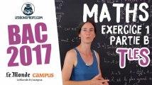 Bac S 2017 : corrigé de Maths (Exercice 1 - partie B) Vidéo repostée