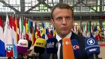"""""""Nous allons travailler sur la lutte contre le terrorisme"""", annonce Macron pour son premier Conseil européen"""
