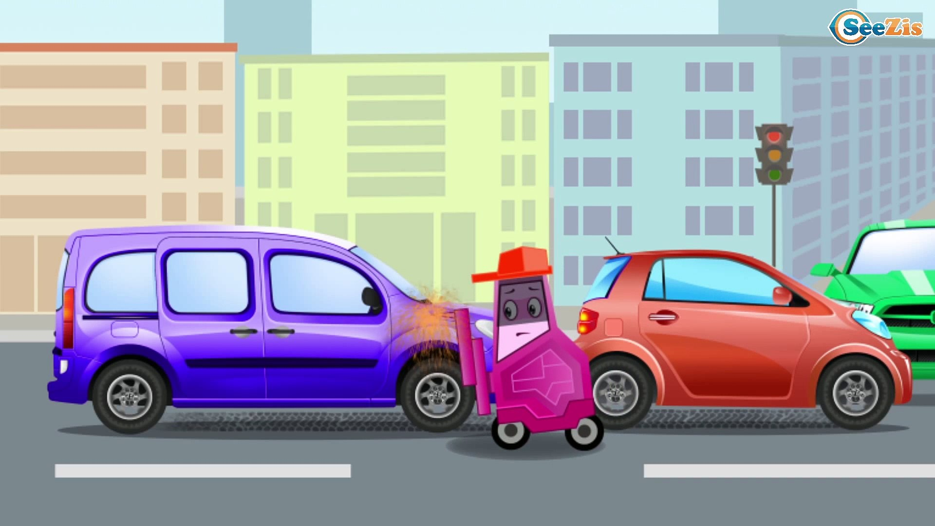 Мультик про Машинки. Скорая помощь и Транспорт. Видео для детей 2017. Смотреть онлайн
