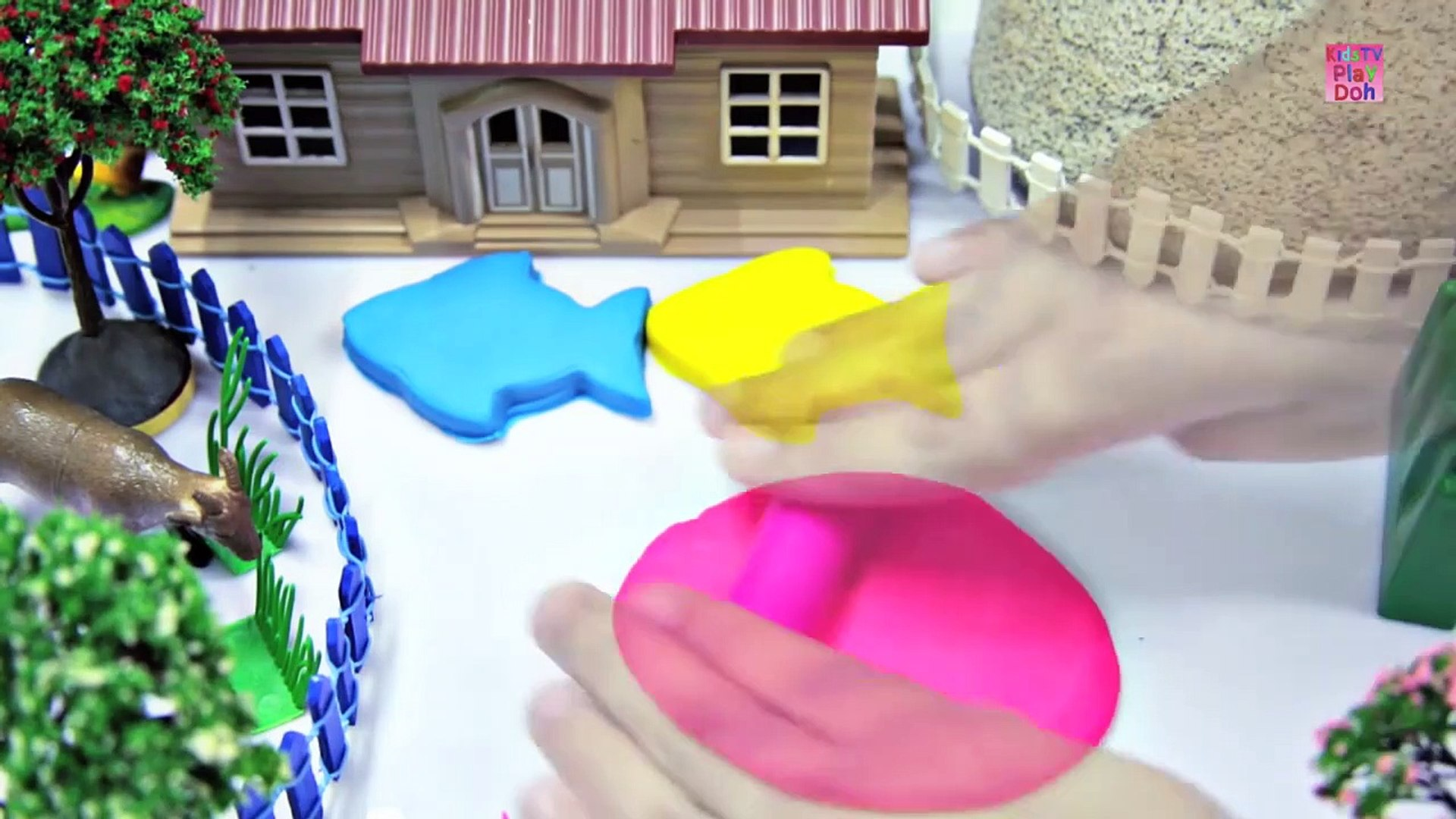 Learn Colors With Play Dohs for Kids _ Kids Learning Videos  _ Play Doh Fish