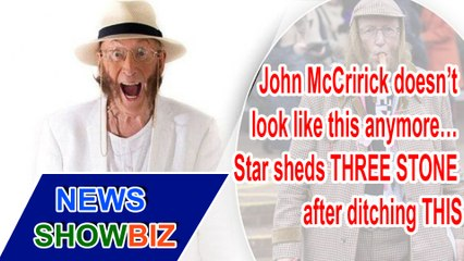John McCririck doesn't look like this anymore… Star sheds THREE STONE after ditching THIS