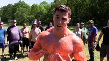 SHOT WITH 1000+ PAINTBALLS IN SLOW MOTION | Bodybuilder VS Paintball Guns | Crazy Challeng
