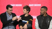 Ansel Elgort, Jon Hamm On 'Baby Driver' Press Tour