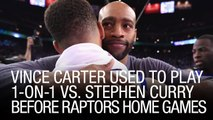 Vince Carter Used To Play One-On-One Vs. Stephen Curry Before Raptors Home Games