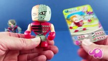 Cartes escroquerie avec avec 3d caractères 3d mutant busters lettres charers