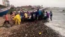 Decenas de barcos pesqueros dañados dejó el paso de la tormenta Brett por Venezuela