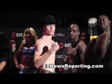tmt star KO Bellows faceoff and weigh in EsNews boxing