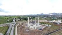 """Hala Sultan Camisi, KKTC'de Simge Eser Olacak"""" - Havadan Görüntüleri"""
