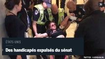Etats-Unis : la police expulse des manifestants handicapés du sénat