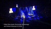 Céline Dion chante 'Recovering' en hommage aux victimes d'attentats et à René