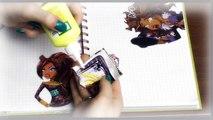 Comme organiser un journal personnel Monster High jeu Blue Lagoon journal personnel