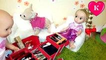 Vivo bebé maquillaje elayv muñeca componen jugando con las madres y las hijas de maquillaje de su madre