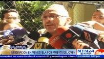 Joven murió durante protestas en Venezuela el mismo día en que Maduro dijo que la Guardia Nacional no usa armas para dis