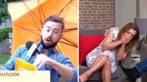 Cet animateur télé n'aurait pas dû prendre son parapluie par ce vent