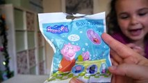 Peppa Pig Bath Fizzer Balls with Surprise Toys inside Full Complete Collection HD