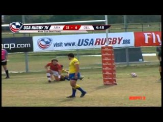 Arkansas State vs. Delaware - Men's Match 56 - 2012 USA Rugby College 7s National Championship