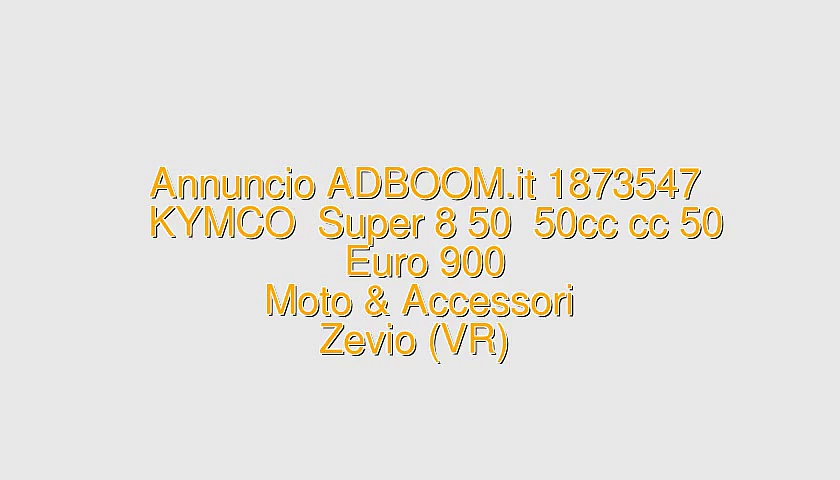 KYMCO  Super 8 50  50cc cc 50