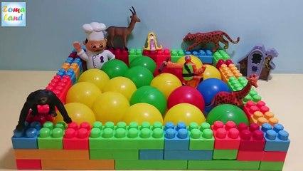 العاب اطفال   لعبة حمام سباحة مكعبات وكور للحيوانات Baby games   Swimming Pool cubes and b