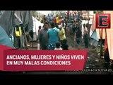 Guatemaltecos desplazados sufren carencias en campamentos instalados en Campeche