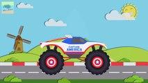 Serviteur Etats-Unis capitaine Amérique monstre camions des voitures pour enfants garderie rimes animé chanson