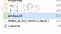 how to delete windows old folder in windows 10