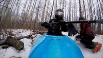 Winter Downhill Snow Kayaking - Pelican Pursuit 80x Kayak