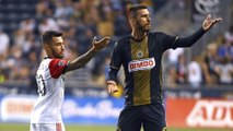 Fair play: Haris Medunjanin convinces referee to rescind red card to Acosta
