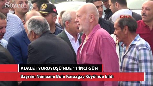 CHP Lideri Kılıçdaroğlu, Bayram Namazını Bolu Karaağaç Köyü'nde kıldı