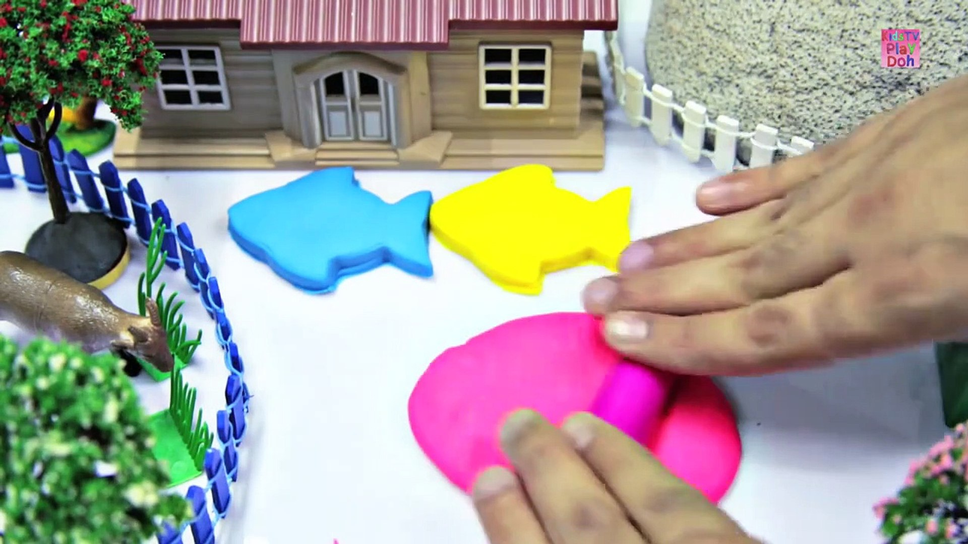 Learn Colors With Play Do Kids _ Kids Learning Videos  _ Play Doh Fish