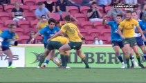 Incroyable essai de Naivalu après une exceptionnelle passe entre les jambes de Foley