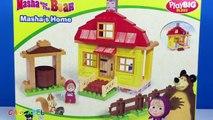 Un et un à un un à maison maison escroquerie avec jouer Masha Masha lours aide à construire vos blocs bi cosntruccion