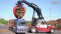 Amazing Trucks Logging - Extreme Trucks Logging - Oversize Truck Logging Driving Skills #HD720p