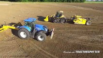 Field leveling   New Holland T7.290HD & Challenger MT 765C   M. van Gastel kilveren