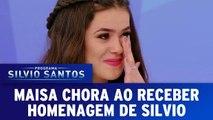 Maisa chora ao receber homenagem de Silvio Santos