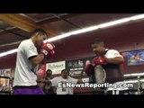 Mayweather vs Maidana Marcos in beats mode in the trainging - esnews