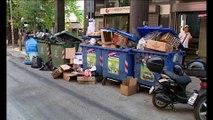 Αφόρητη η κατάσταση με τα σκουπίδια στη Λαμία. Τι απαντούν οι συμβασιούχοι.